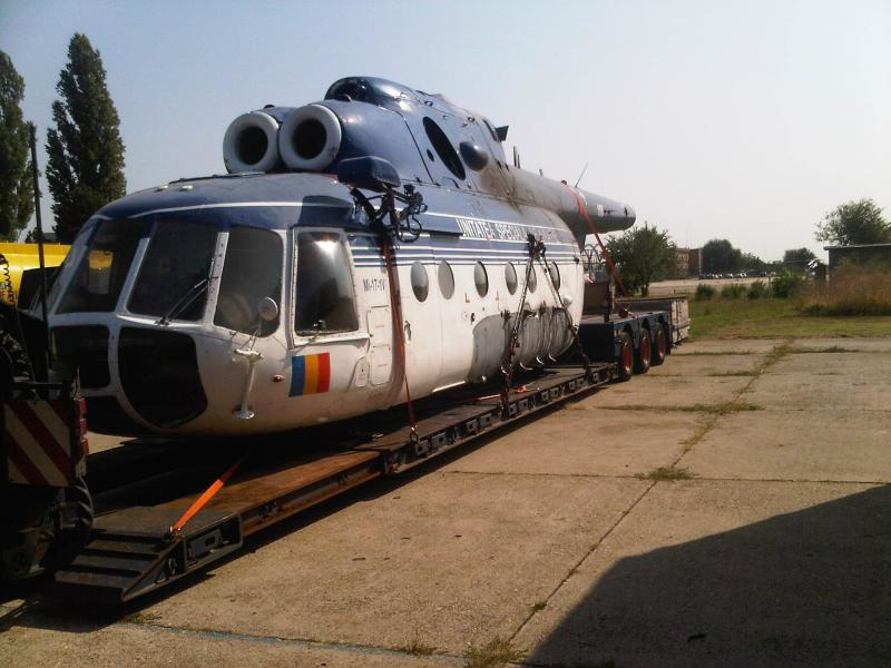 Striped Down Mi-17 Loaded for Transport