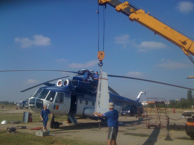 Mi-17 Rotor Removal